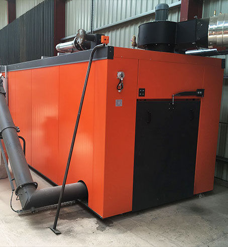 Biomass drying container